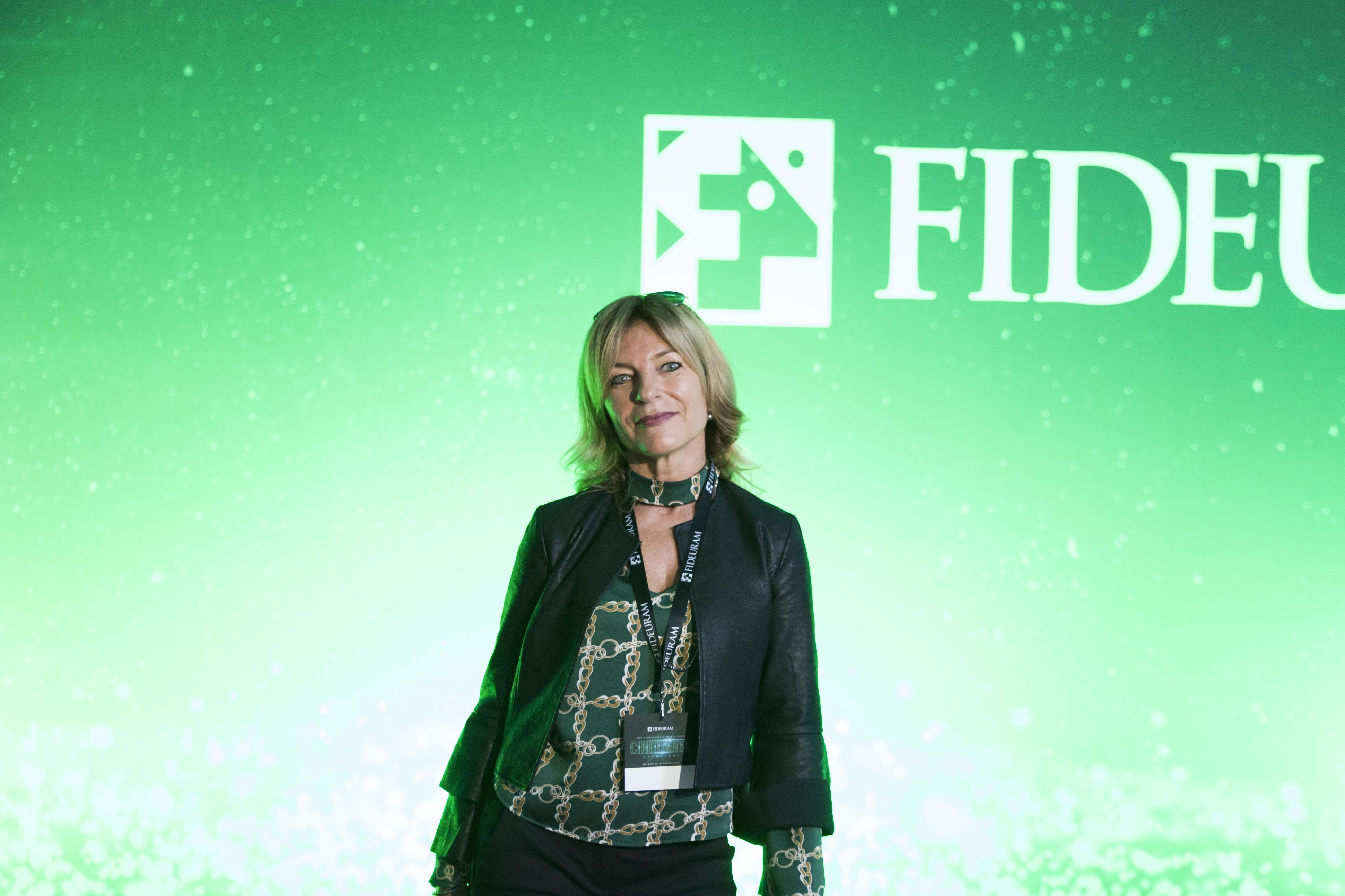 Sabrina Silvestrini all'anniversario di Banca Fideuram